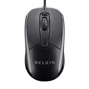 Belkin 3 Button Wired USB Optical Mouse In Computer Accessories
