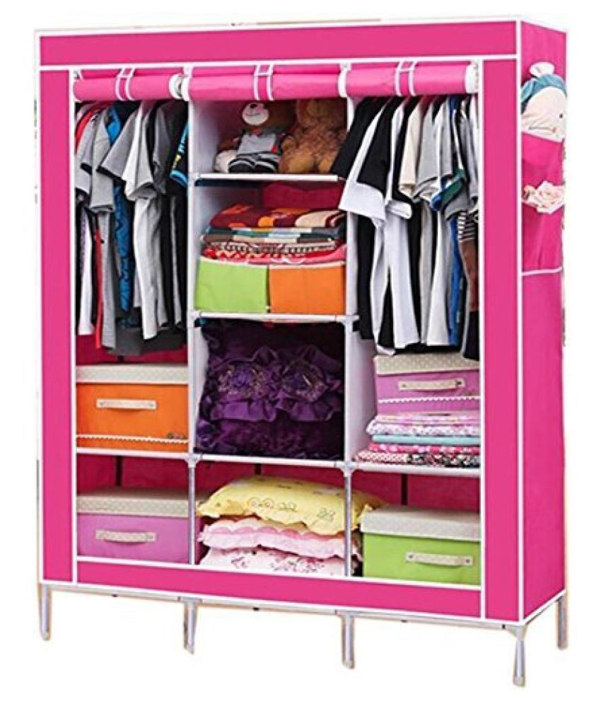 Wardrobe Closet Non-woven Canvas Folding Fabric Wardrobe