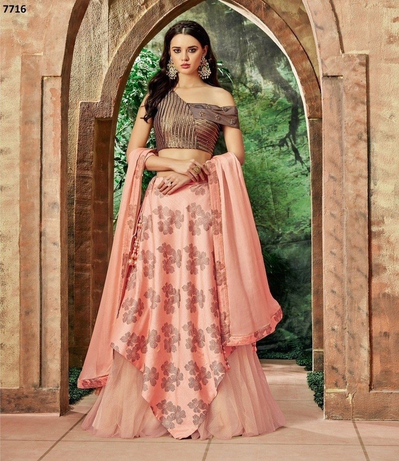 Maryam - Silk Net Embroidery Lehenga Choli
