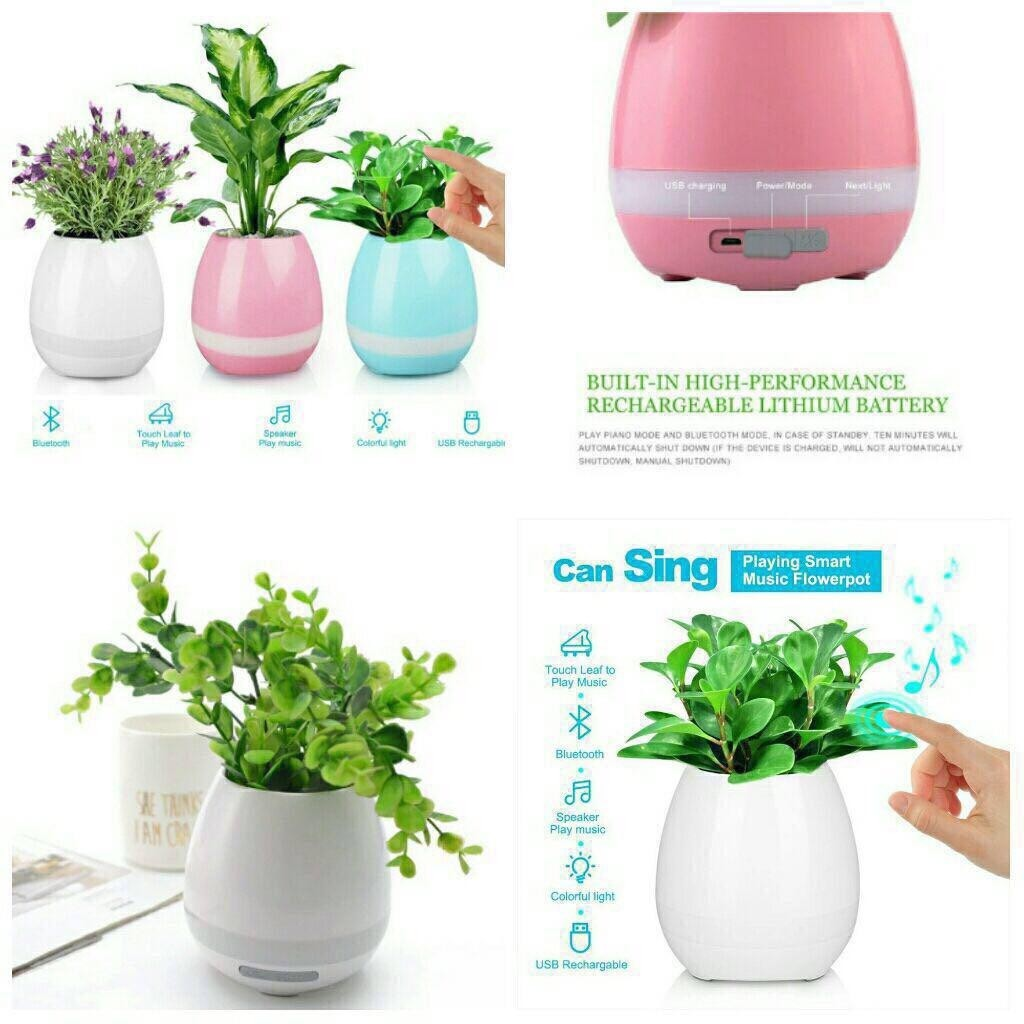CAN SING Music Flower Pot Wireless Portable Bluetooth Speaker