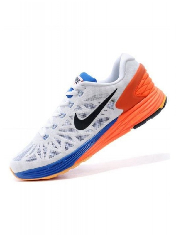 Shopsyour: Nike Lunarglide 6 White Orange Running Shoes - Running Shoes -  Footwear - Men