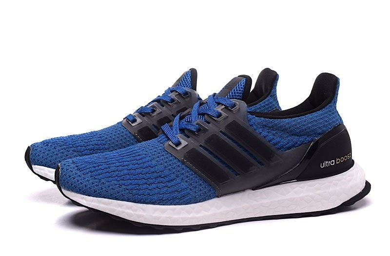 Adidas Ultra Boost Blue Black Running Shoes