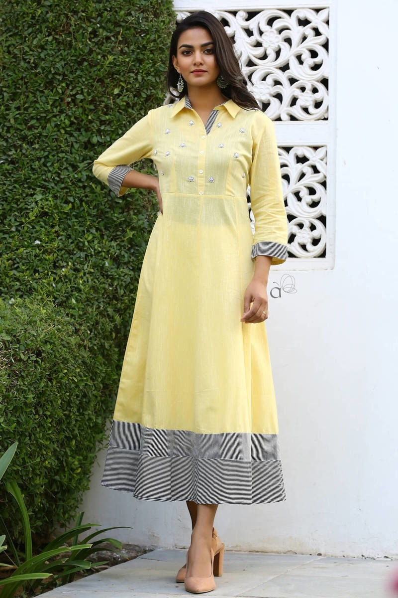 Kia - Cotton Embroidery Kurti