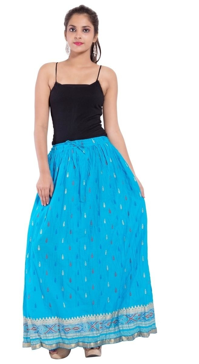 Moni - Cotton Printed Long Skirt
