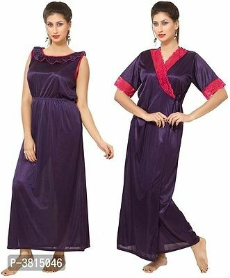 Trendy Night Gowns and Robe Set