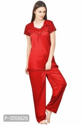 Trendy Satin Night Suit Set