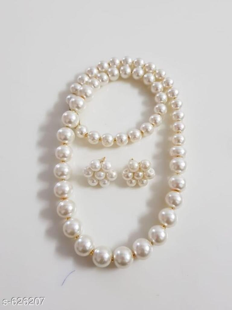 Women's Vintage Pearl Beaded Necklace Sets