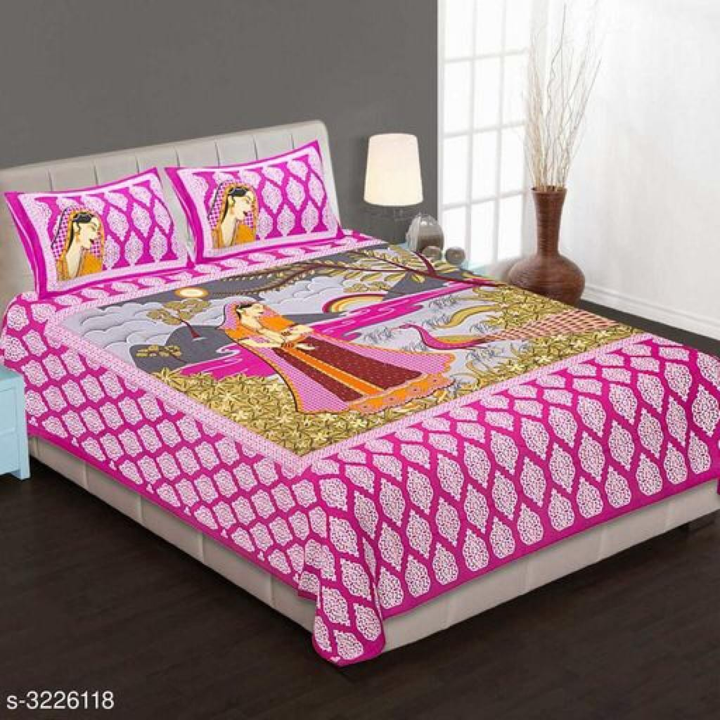 Pure Cotton Double Bedsheets