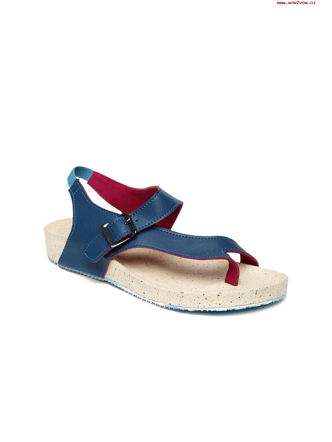 Blue Solid Flats For Women
