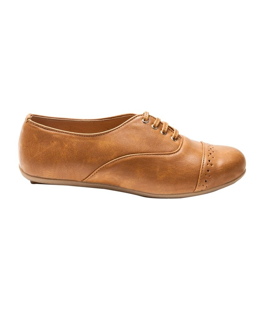 Marc Loire Tan Faux Leather Formal Shoes For Women