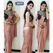 Satin Saree with Blouse Piece