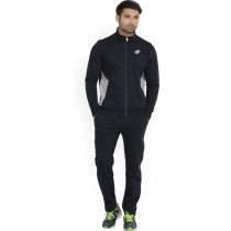 Lotto Solid Men Track Suit In Black Color