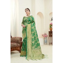 Tanchui Art Silk Saree With Blouse