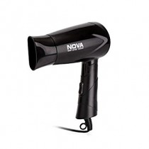 Nova Silky Shine 1200 W Hot And Cold Foldable Hair Dryer Black Color For Women
