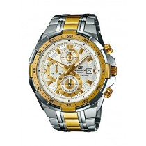 CASIO EDIFICE EFR 558 Sliver Gold Watch