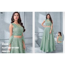 Maryam:Tissue Net Embroidery Lehenga Choli Dupatta