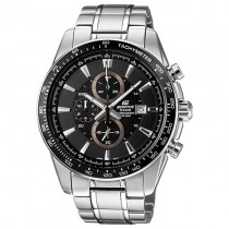 CASIO EDIFICE EFR 539 ANALOG WATCH FOR MEN Silver Black