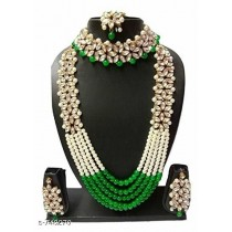 Kundan Green Necklace