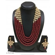 Ruby Kundan Necklace Set
