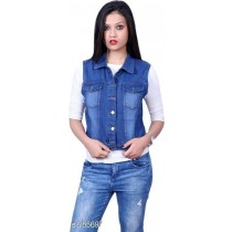 WOMEN DENIM HALF JACKET