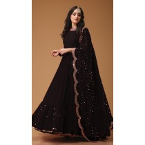 Gown Dupatta Georgette with Foil Work