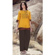 Panna - Rayon A - Line Embroidery Top