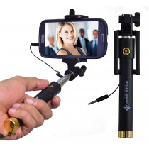 Selfie Stick with Wire/Aux Cable or taking Photos & Videos on all Mobile Phones