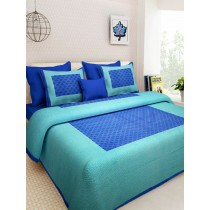 WCL - Cotton Printed Double Bedsheet With Pillow Cover