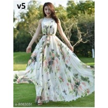 Women Trendy Floral Gown