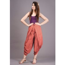 Kia - Rayon Slub High Waist Dhoti Pants With Button