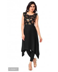High-Low Crepe Kurti with Legging