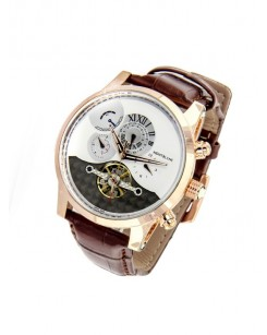 Mont Blanc Nicolas Rieussec Anniversary Edition Brown Strap Watch