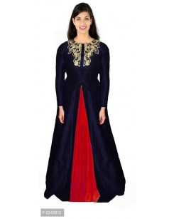 PARTY WEAR GOWN NECK DESIGN