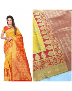 Rinki - Art Silk Banarasi Saree With Blouse
