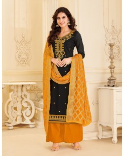 Panna - Chanderi Embroidery Unstitched Suit Set